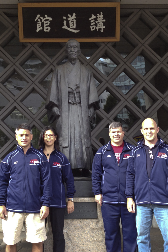 Karl Tamai, Diane jackson, Kevin Hobbs, and Bill Brownlowe at the Kodokan's Jigoro Kano Memorial