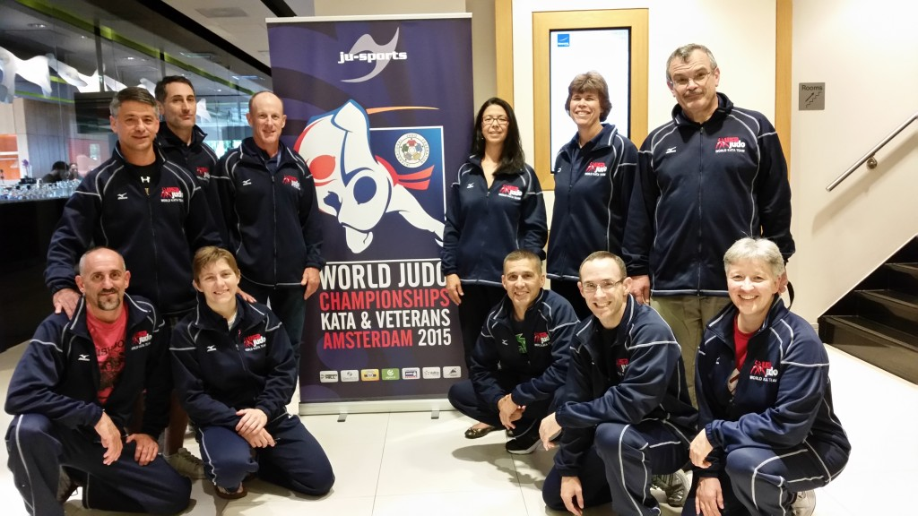 The US Kata Teams at the Kata World Championships, Amsterdam, The Netherlands Kneeling: Giunta, Capriotti, Rommelmann, Gouthro, Shimizu.  Standing: Tamai, Rooney, Newcomer, Jackson, Lindsey, Bellerud