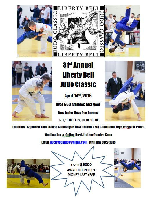 31st Annual Liberty Bell Judo Classic @ The Academy of New Church Asplundh Field House | Bryn Athyn | Pennsylvania | United States