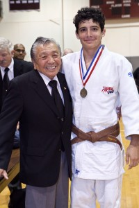 Sensei Takemori and new Shodan Will Inserra at the 2012 Eastern