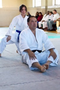 Lindsay and Grant Kuramoto demonstrating Katame No Kata