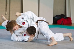 Michelle and Martin Veloso demonstrating Katame No Kata