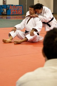 Senseis Jackson and Tamai demonstrating the Katame No Kata