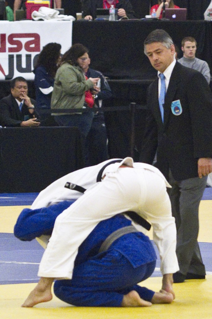 Tamai refereeing at 2016 Senior National Championships