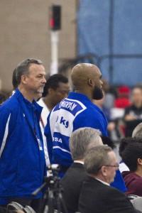Coach Eric Spears with Damani Ingram