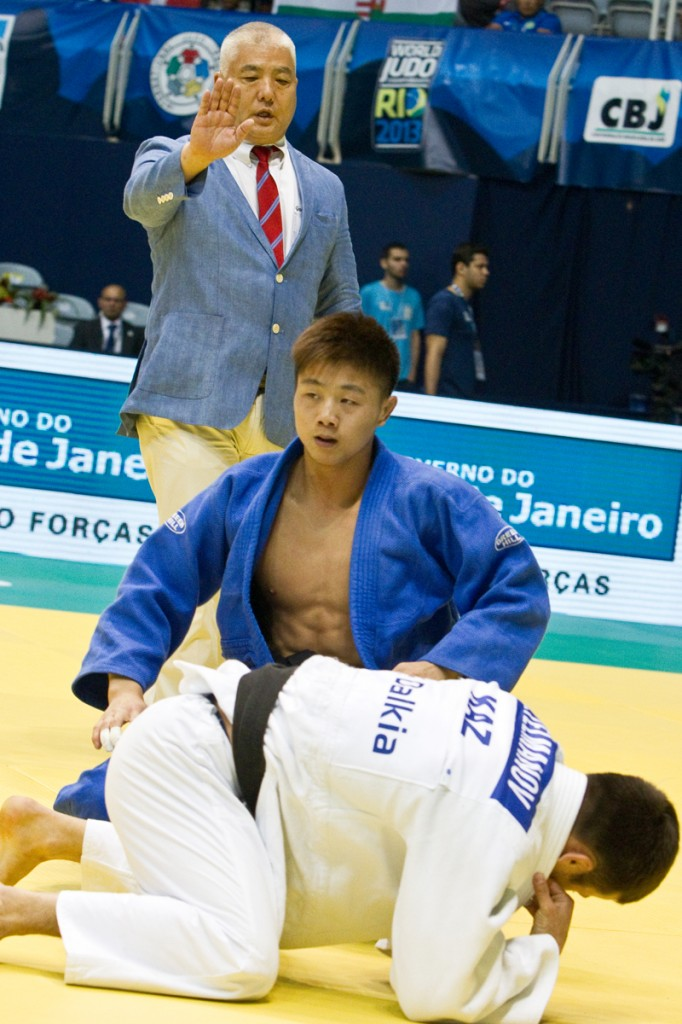 IJF-A Referee Gary Takemoto at the 2013 World Championships