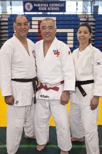 Senseis Kevin Tamai, Noboru Saito, and Diane Jackson
