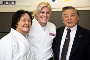 Miki Takemori, Kayla Harrison, and Edwin Takemori