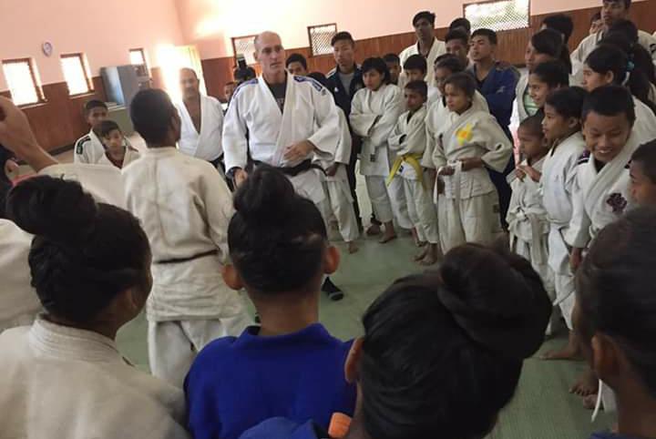 Wayne Lifshitz in Nepal for World Judo Day